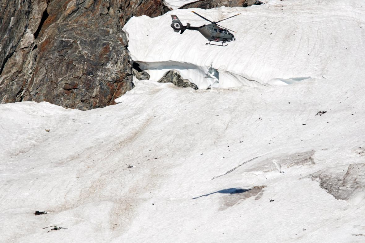 Ledovec ve švýcarském Göschenenu.