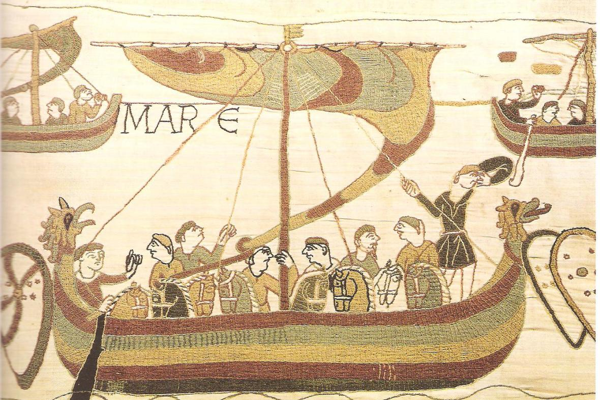 Vikinská loď na Tapisérii z Bayeux