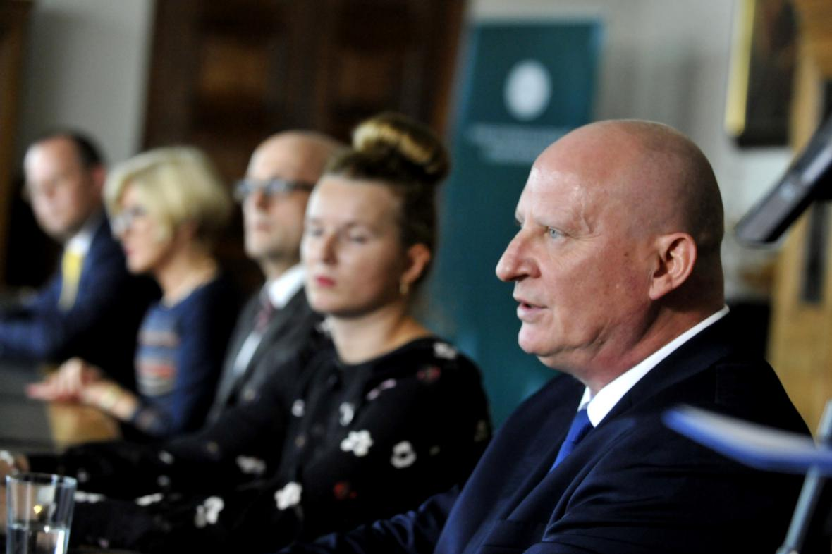 Tisková konference české Unie státních zástupců a polských prokurátorů