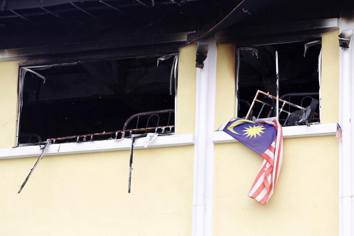 Požár náboženské školy v Malajsii