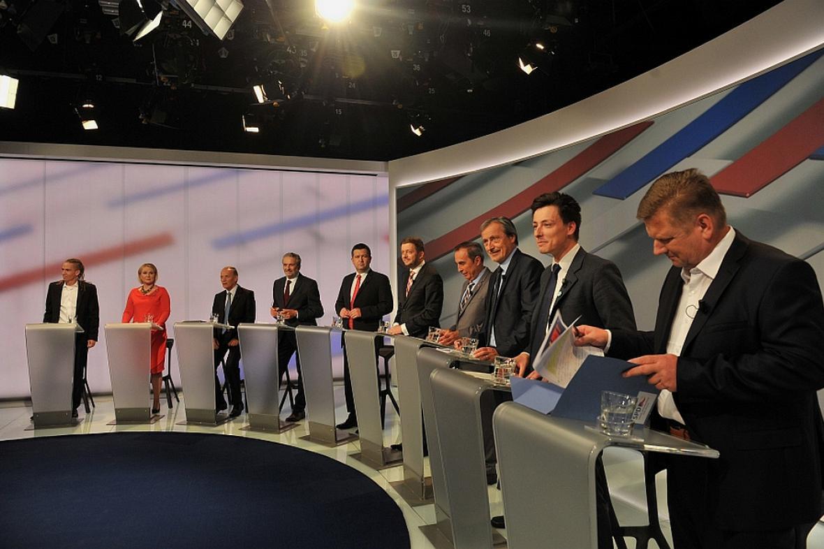 Předvolební debata ČT24: Téma obrana a bezpečnost