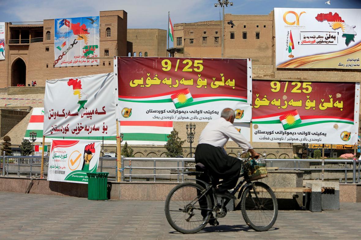 Irácký Kurdistán se připravuje na pondělní referendum