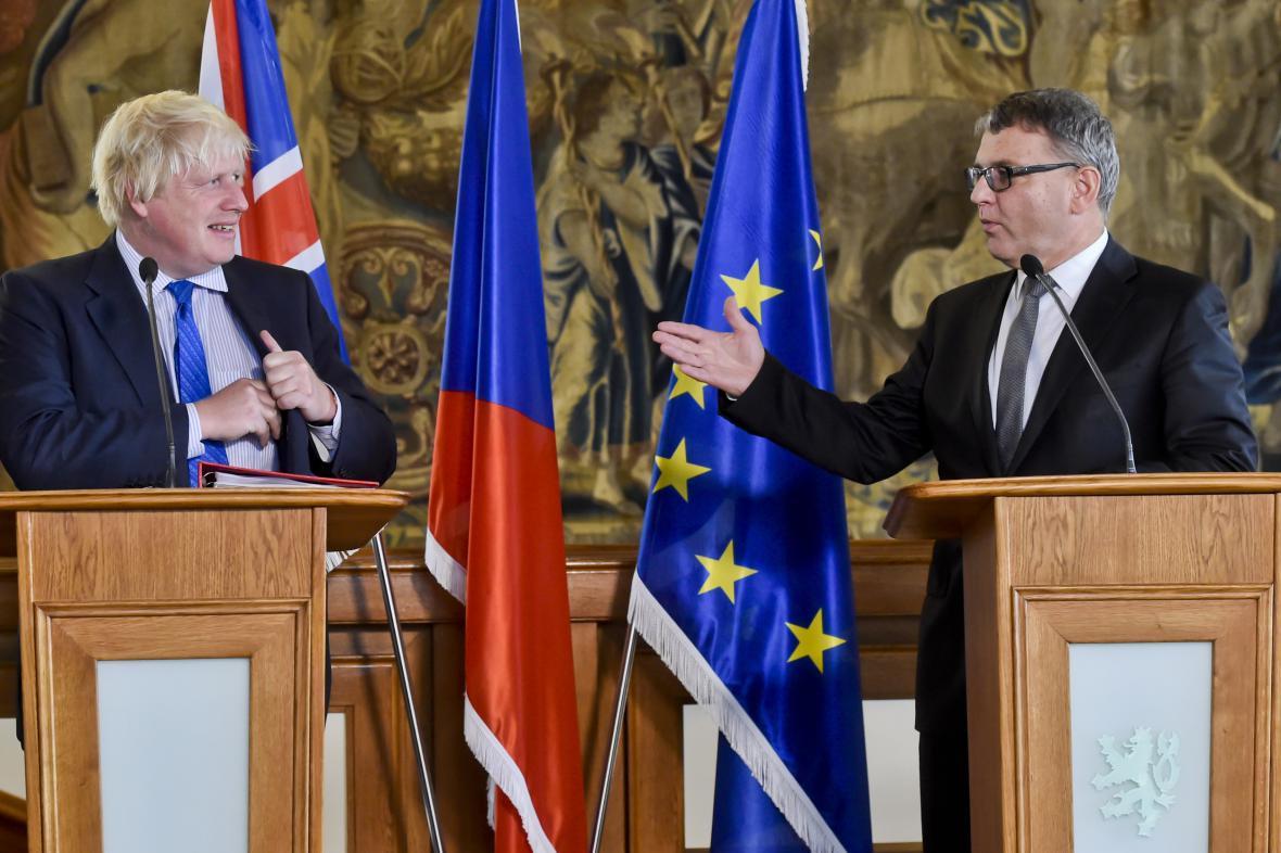 Boris Johnson s Lubomírem Zaorálkem