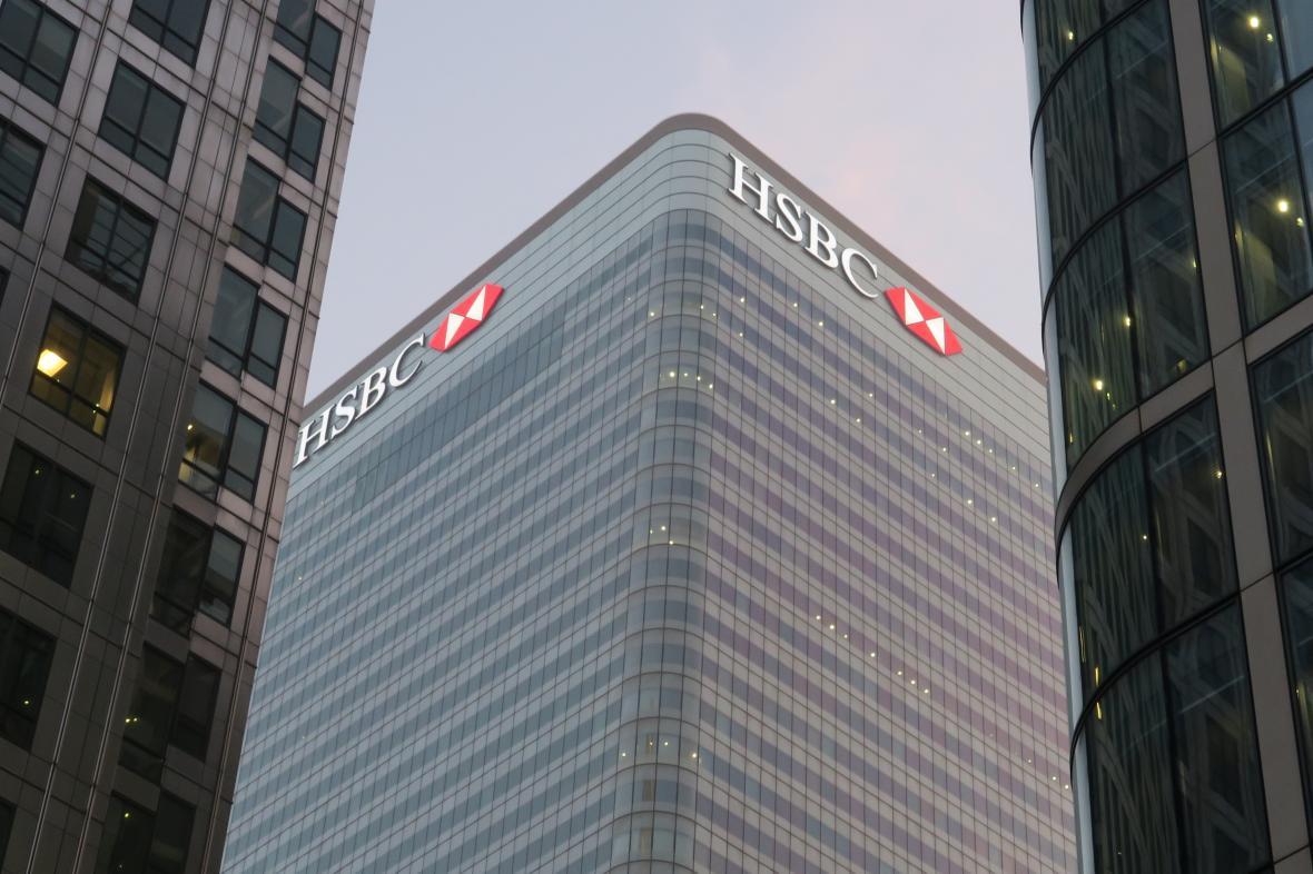 Ústřední banky HSBC v Londýně
