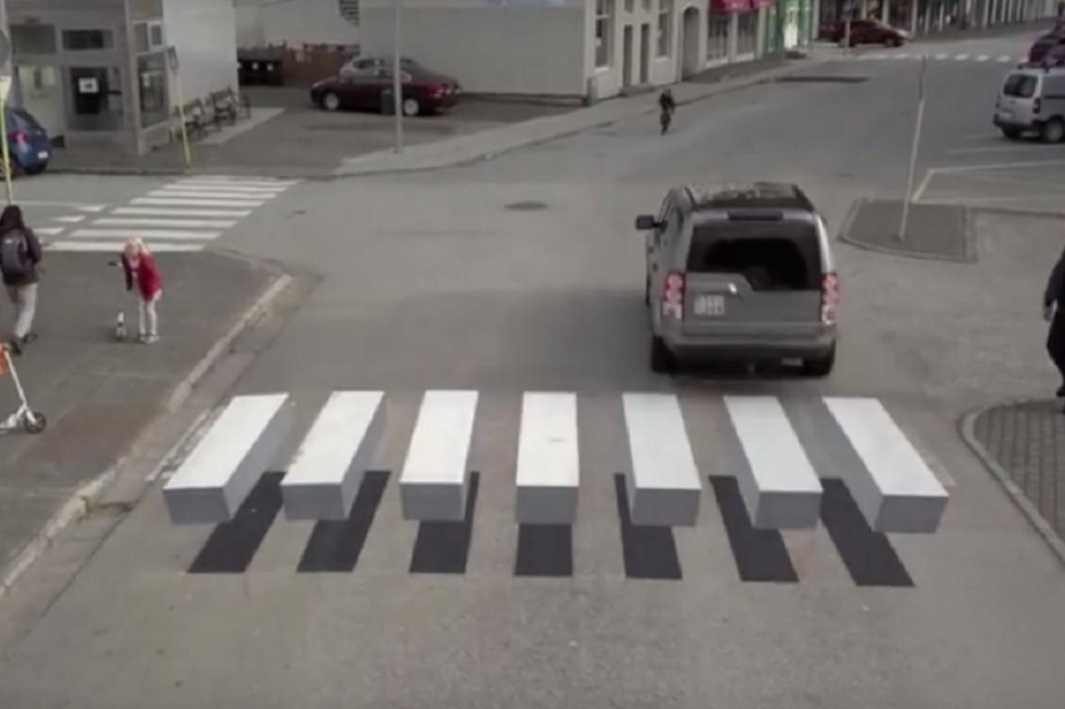 Přechod pro chodce na Islandu