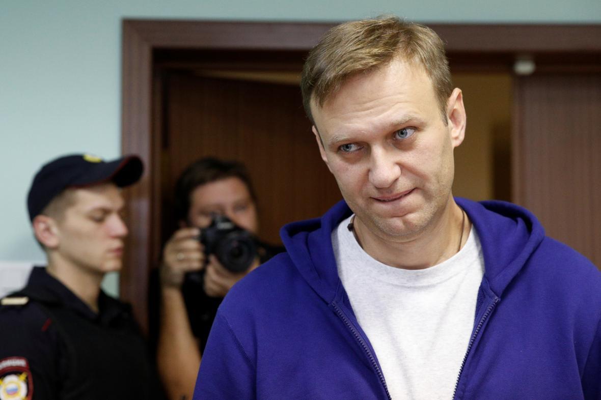 Navalnyj u odvolacího soudu