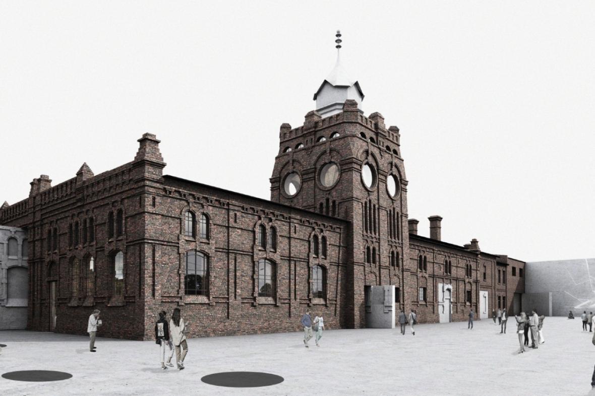Vizualizace podoby jatek po rekonstrukci v podání studia KWK Promes Katovice