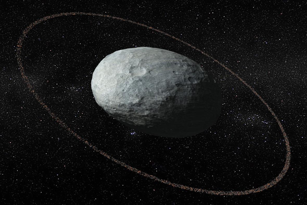 Haumea s prstencem