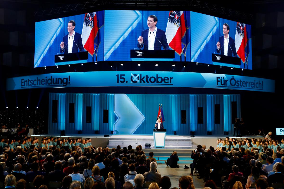 Sebastian Kurz během kampaně
