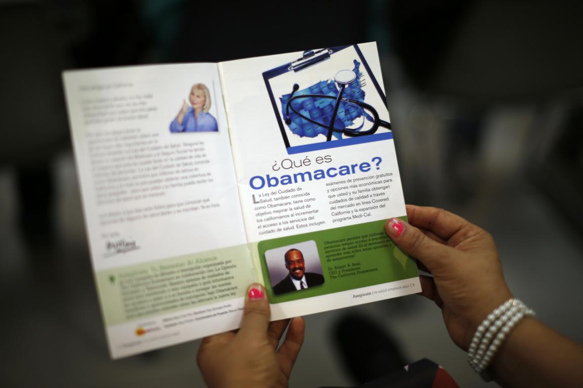 Informační leták o Obamacare ve španělštině