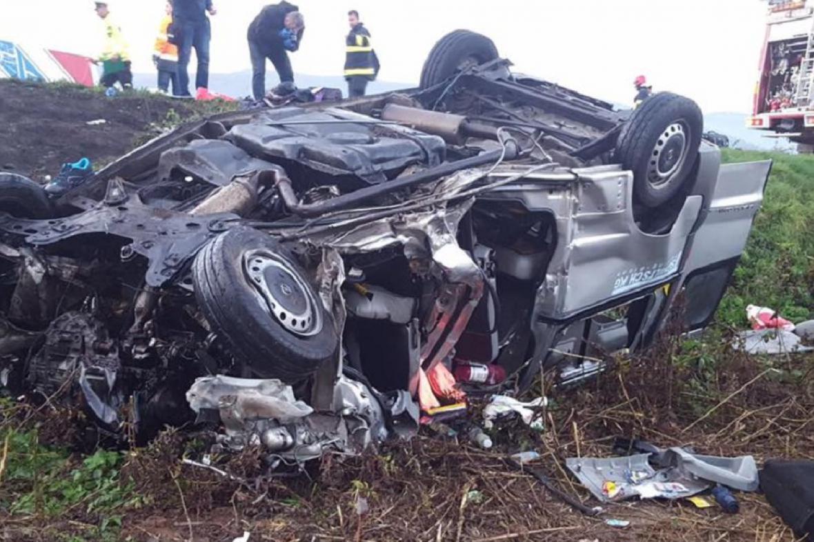 Tragická dopravní nehoda u slovenské obce Nitrica