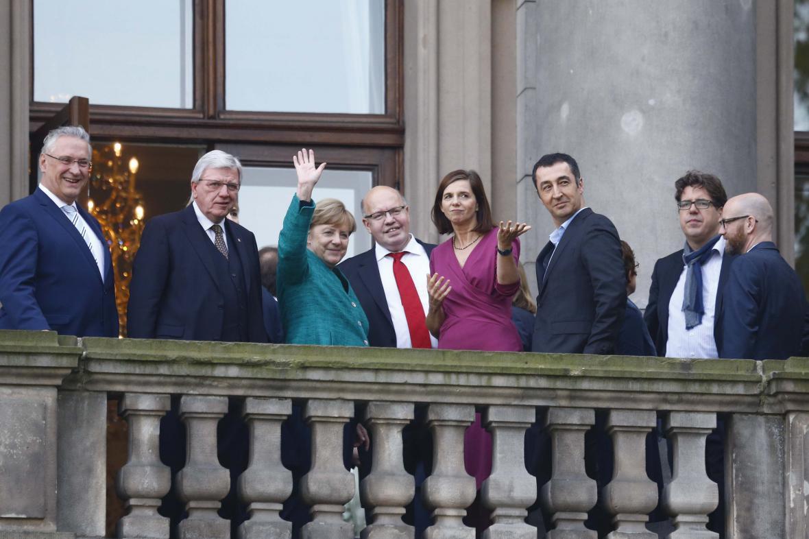 Zástupci CDU-CSU a strany Zelených na společném jednání o nové německé vládě