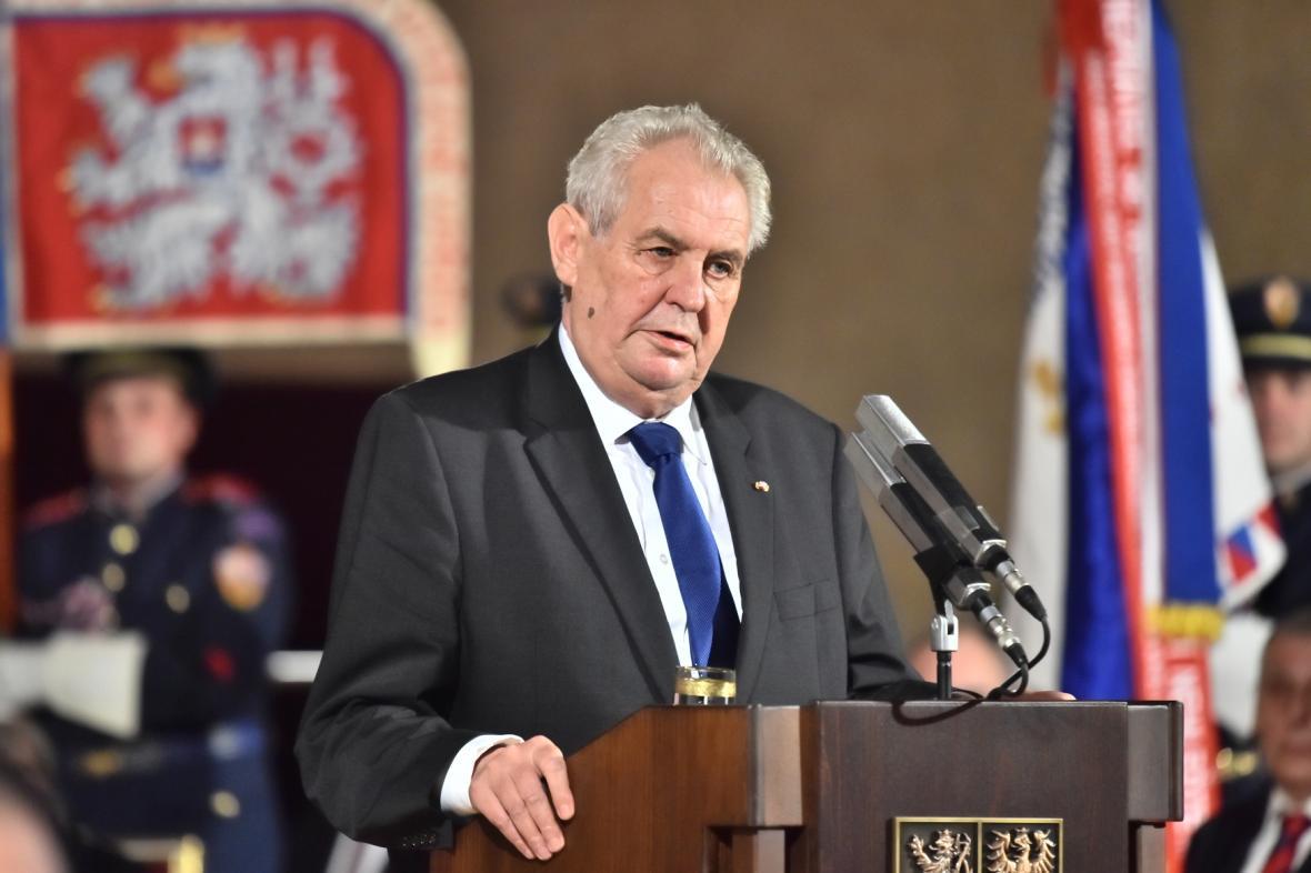 Projev Miloše Zemana před udílením státních vyznamenání v roce 2016
