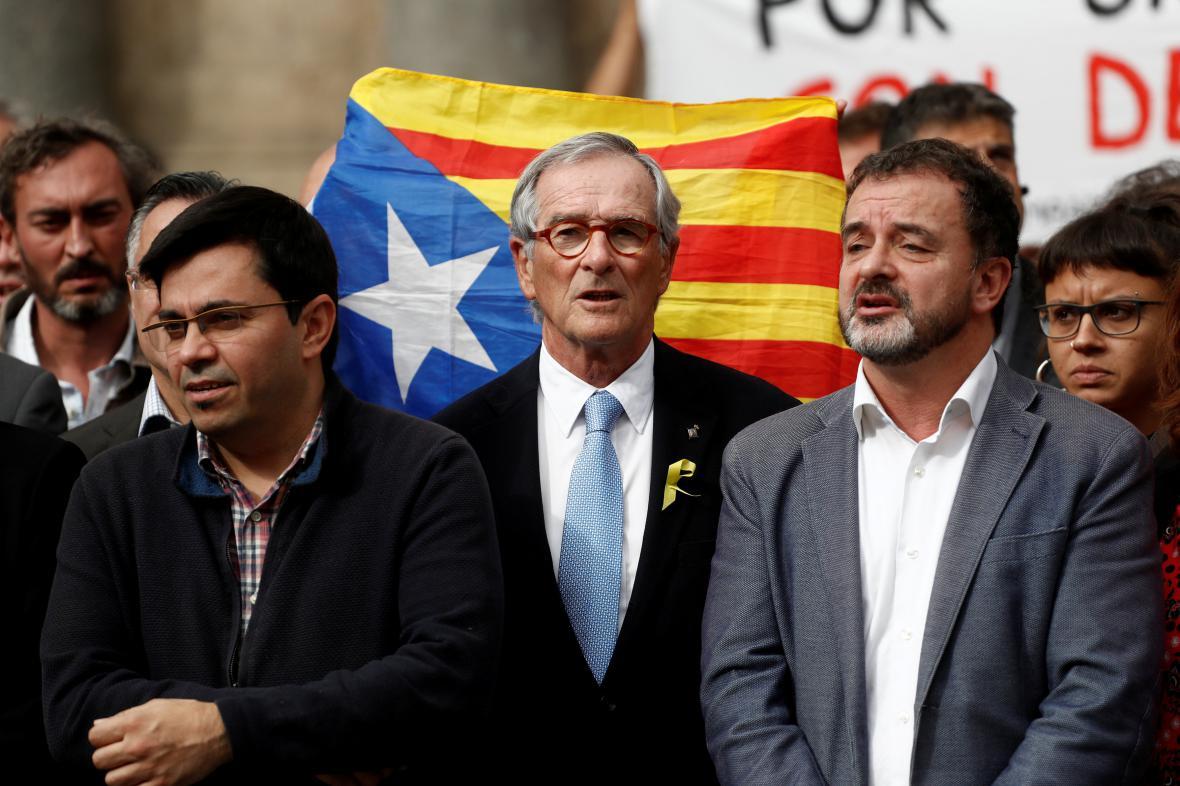 Vůdci separatistického hnutí za katalánskou samostatnost