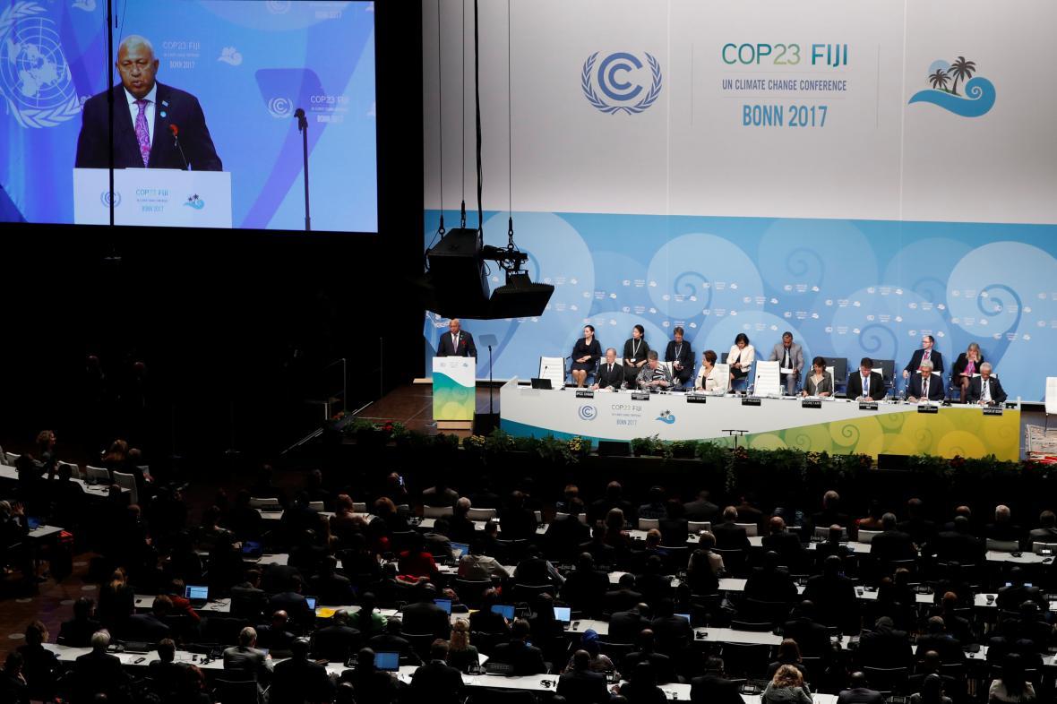 Hlavní jednací sál klimatického summitu OSN v Bonnu