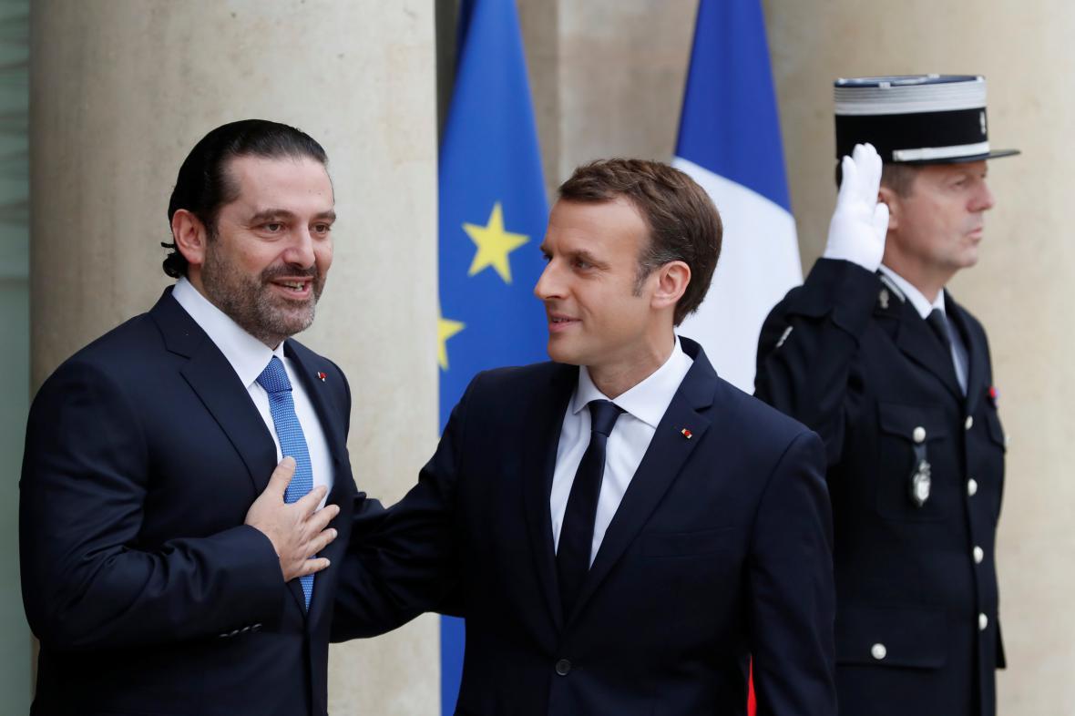 Saad Harírí jednal o situaci v Libanonu s Emmanuelem Macronem