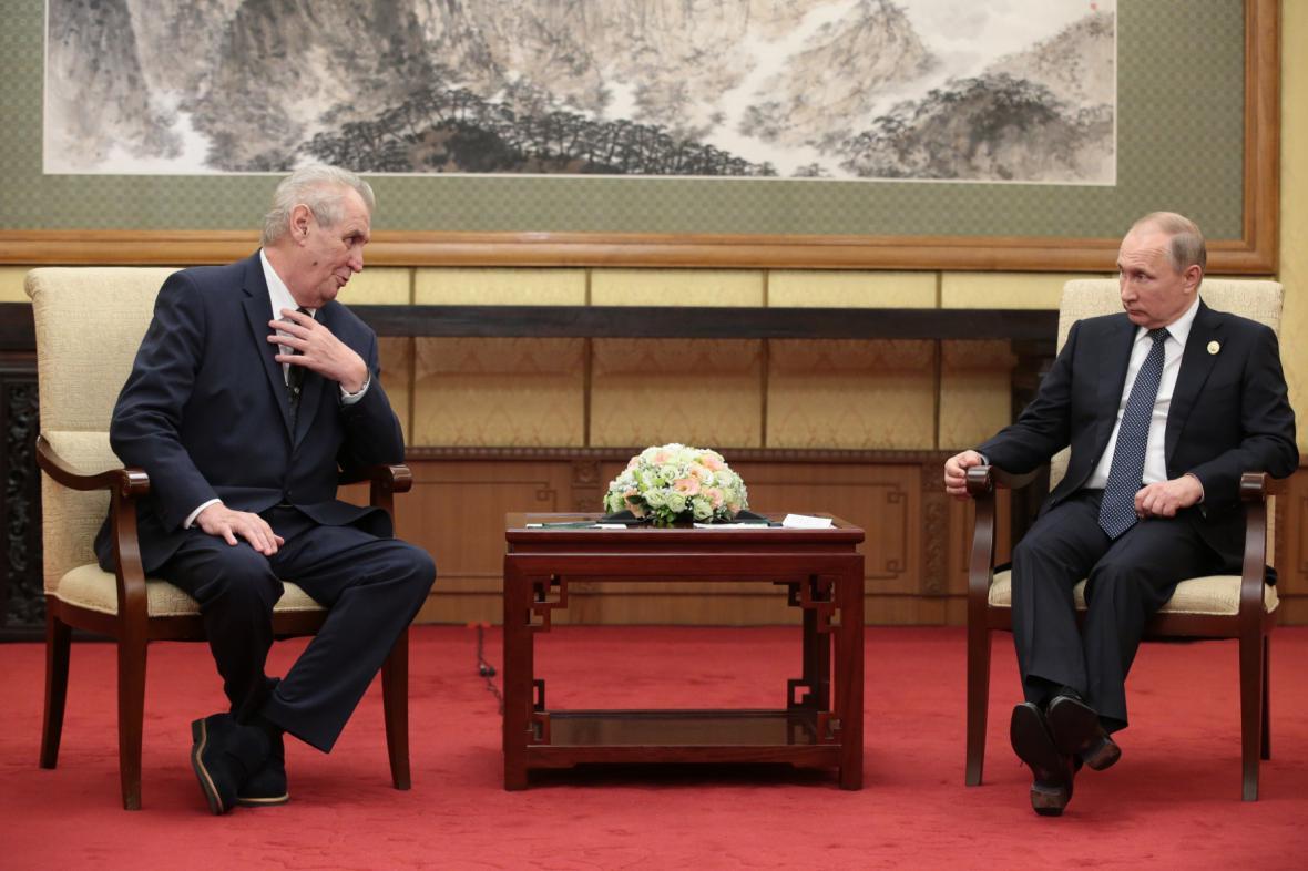 Pekingské setkání českého a ruského prezidenta z května 2017