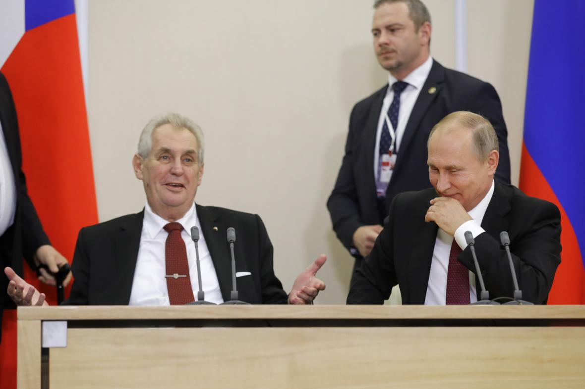 Prezidenti Zeman a Putin v Soči