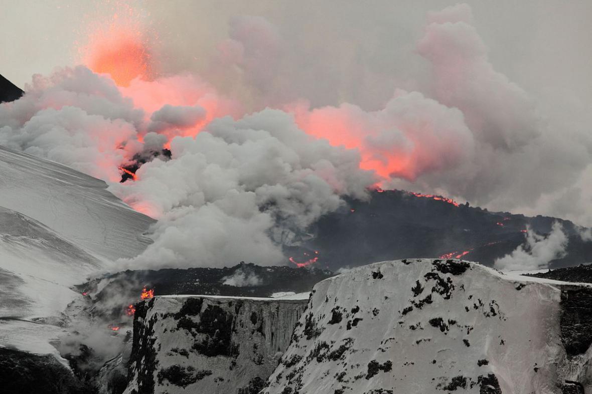Erupce sopky na Islandu v roce 2010