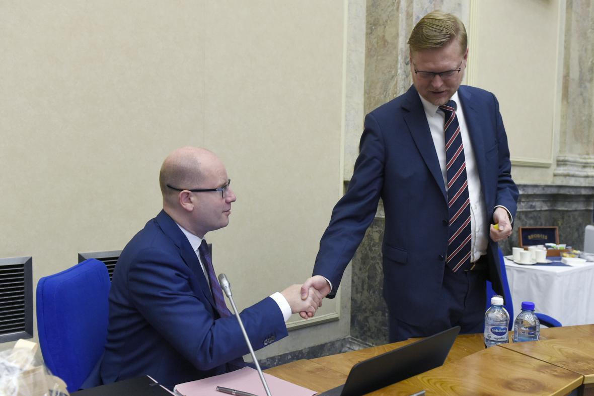 Bohuslav Sobotka a Pavel Bělobrádek