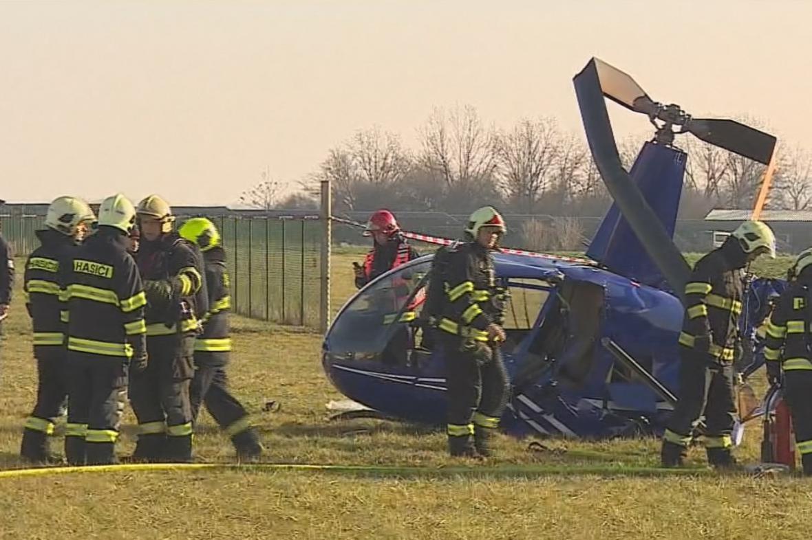 Havárie lehkého vrtulníku v Brně-Tuřanech