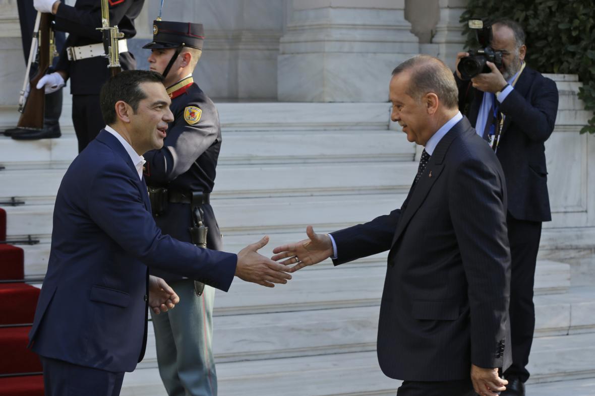 Předseda řecké vlády Alexis Tsipras a turecký prezident Recep Tayyip Erdogan