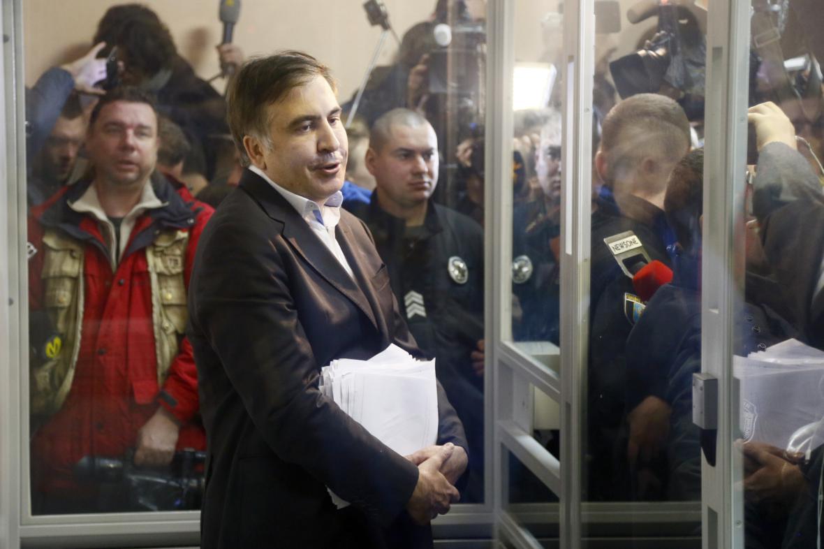 Michail Saakašvili u soudu