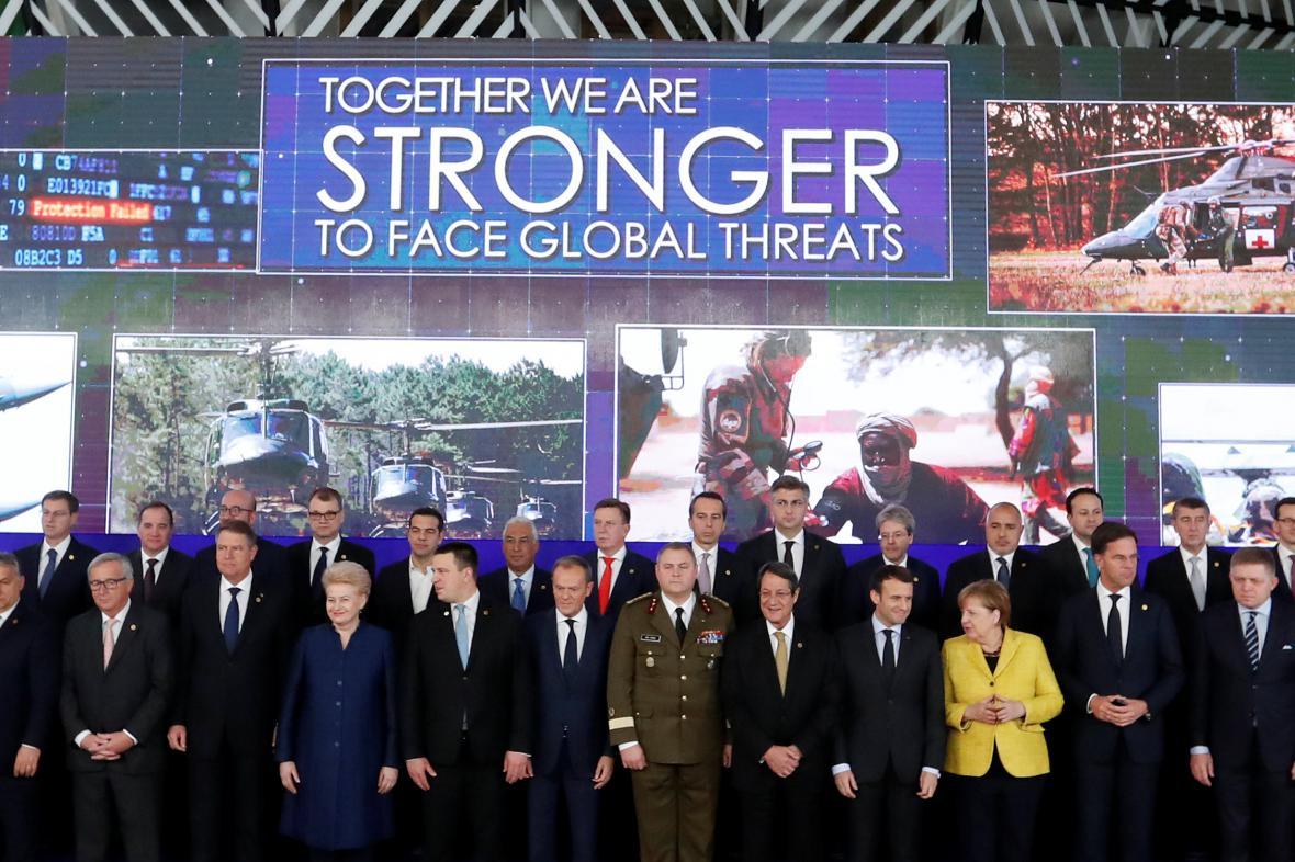 Lídři zemí EU potvrdili posílení spolupráce v obraně