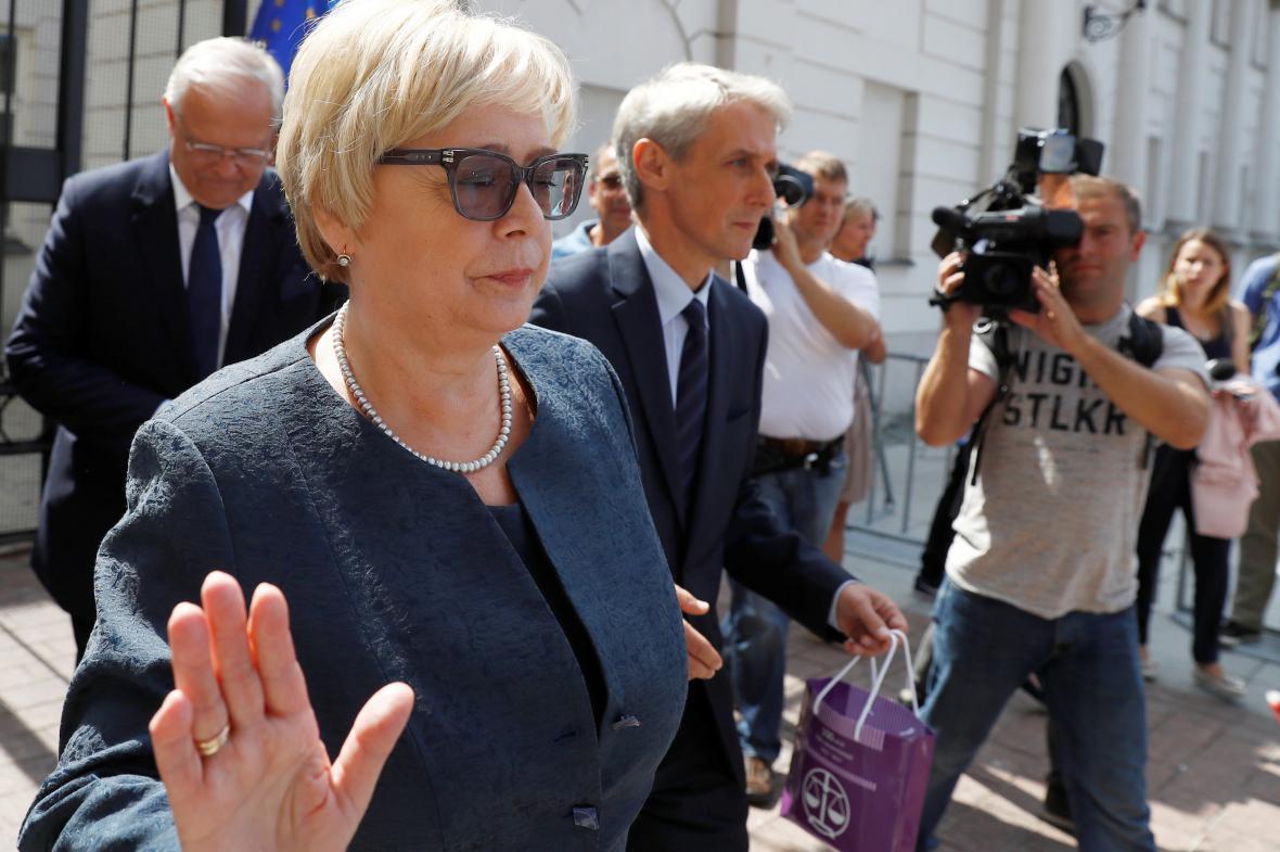 Předsedkyně polského Nejvyššího soudu Malgorzata Gersdorfová