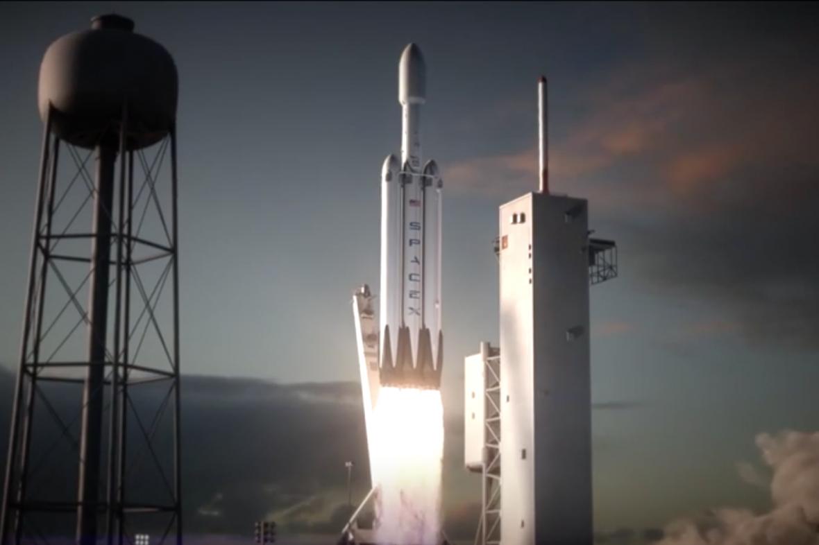 Falcon Heavy, vizualizace