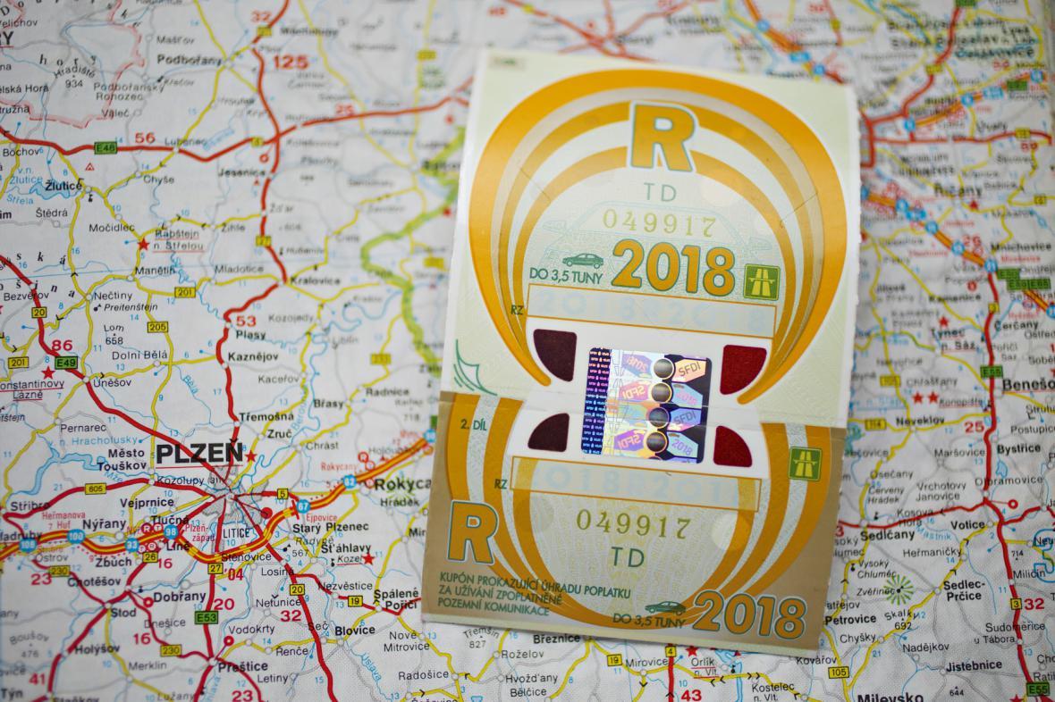 Roční dálniční známka pro rok 2018