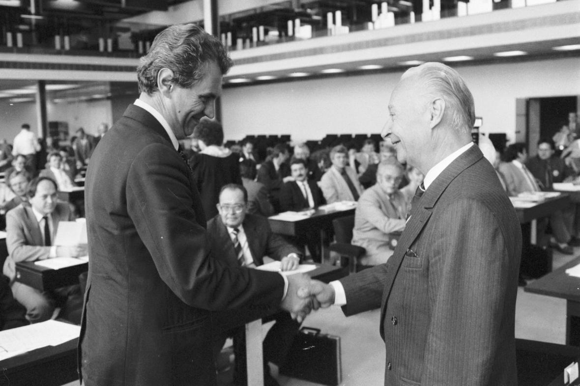 Miloš Zeman a Alexander Dubček