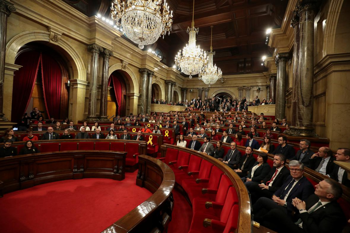 Zasedání katalánského parlamentu