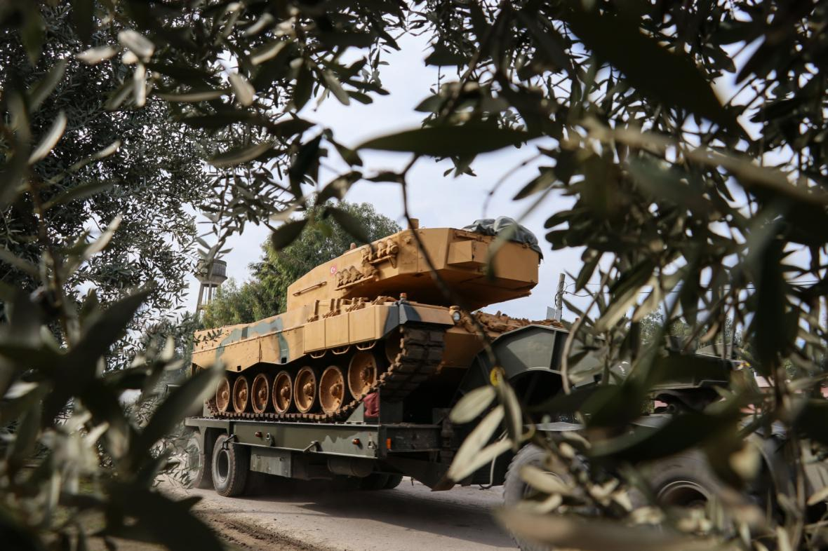 Přesun turecké armády během operace Olivová ratolest