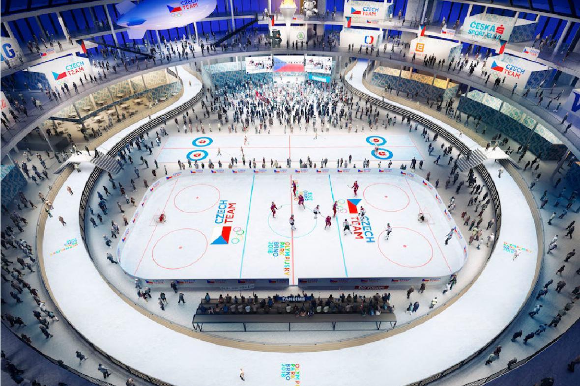 Vizualizace Olympijského parku Brno