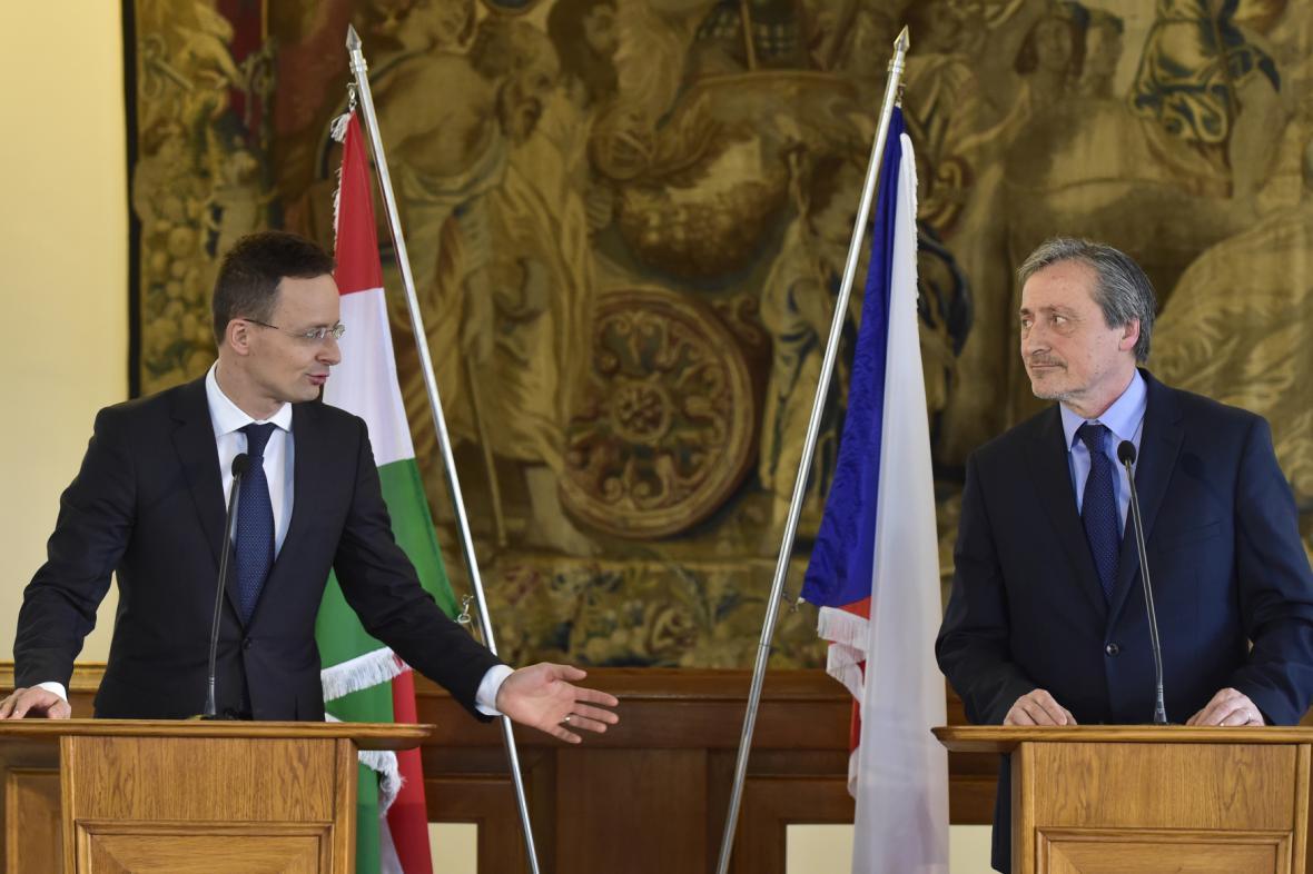 Péter Szijjartó a Martin Stropnický