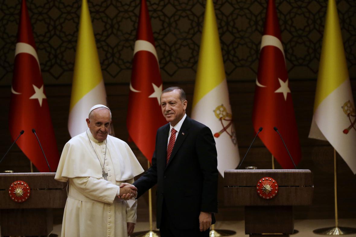 Erdogan na návštěvě Vatikánu s papežem Františkem