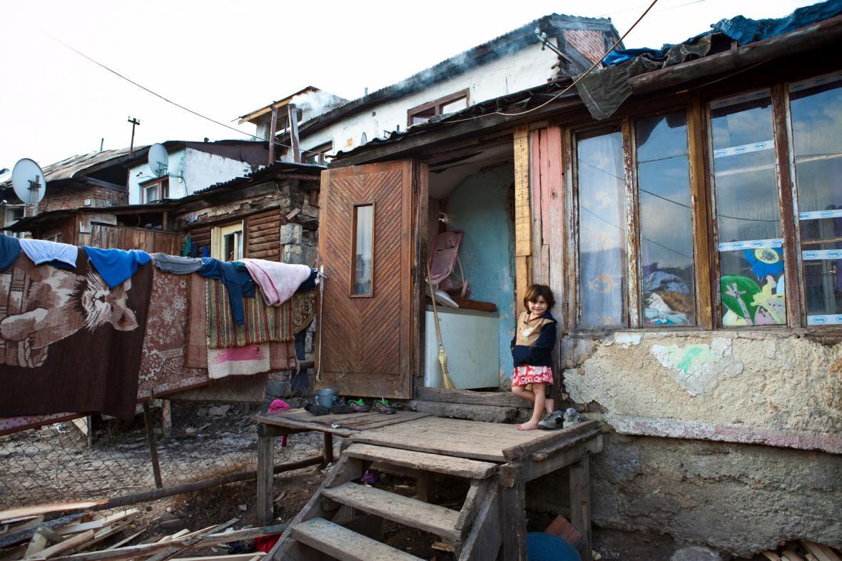 Romská osada, ilustrační foto