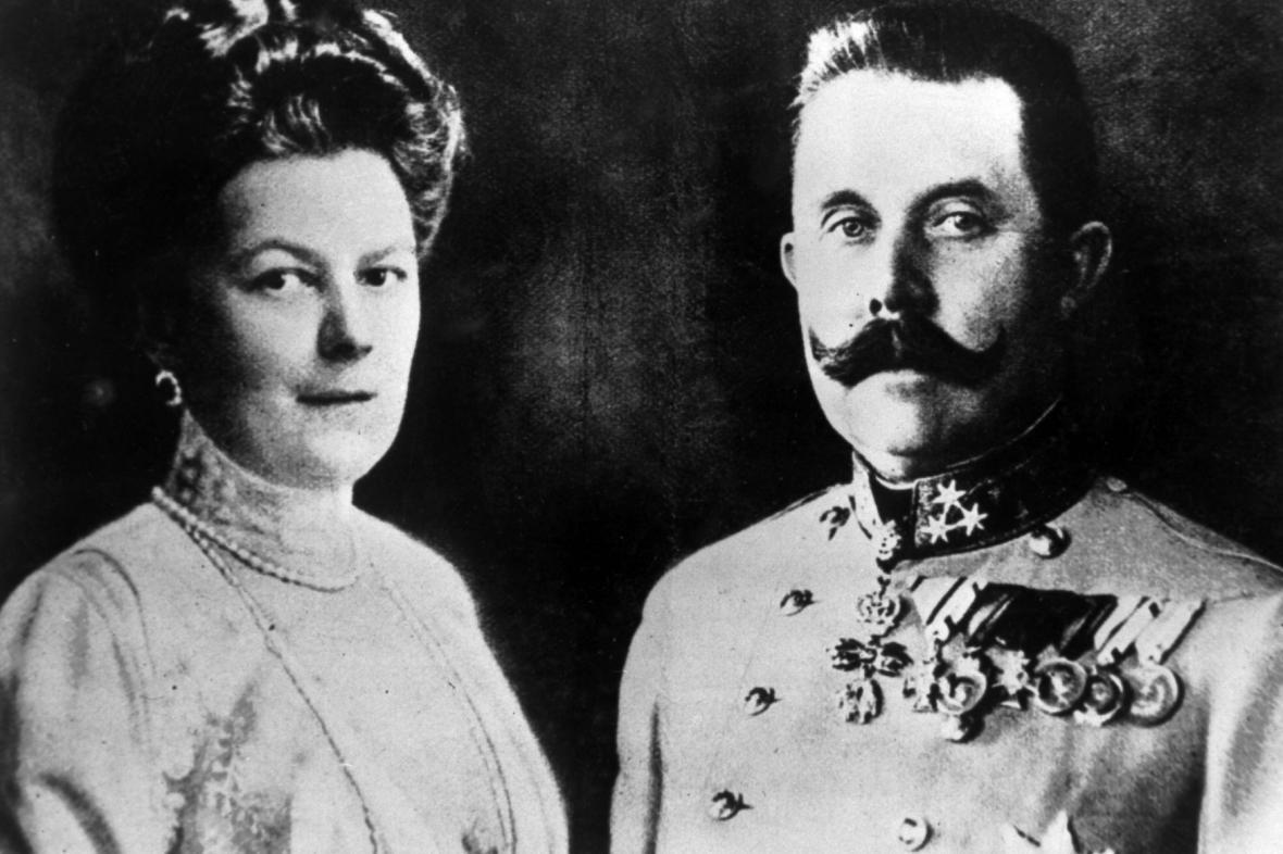 Žofie Chotková a její choť arcivévoda František Ferdinand d'Este