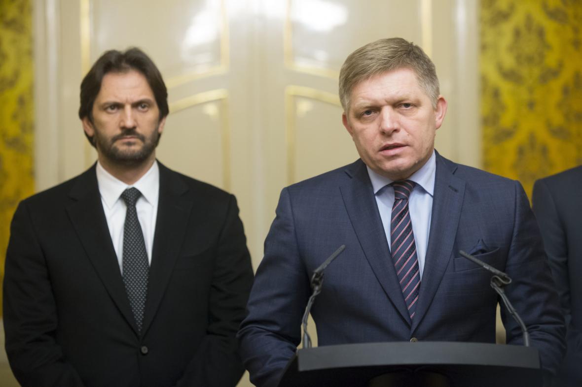 Robert Kaliňák a Robert Fico