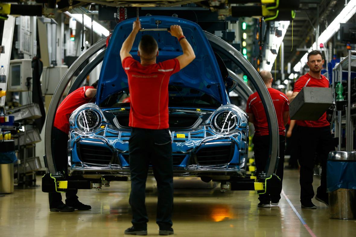 Továrna Porsche ve Stuttgartu.