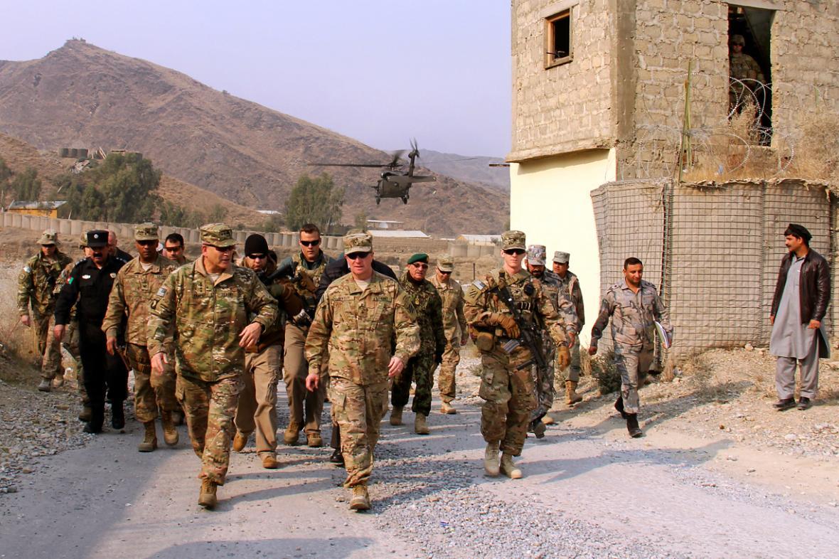 Americké vojenské jednotky v Afghánistánu. Ilustrační foto.