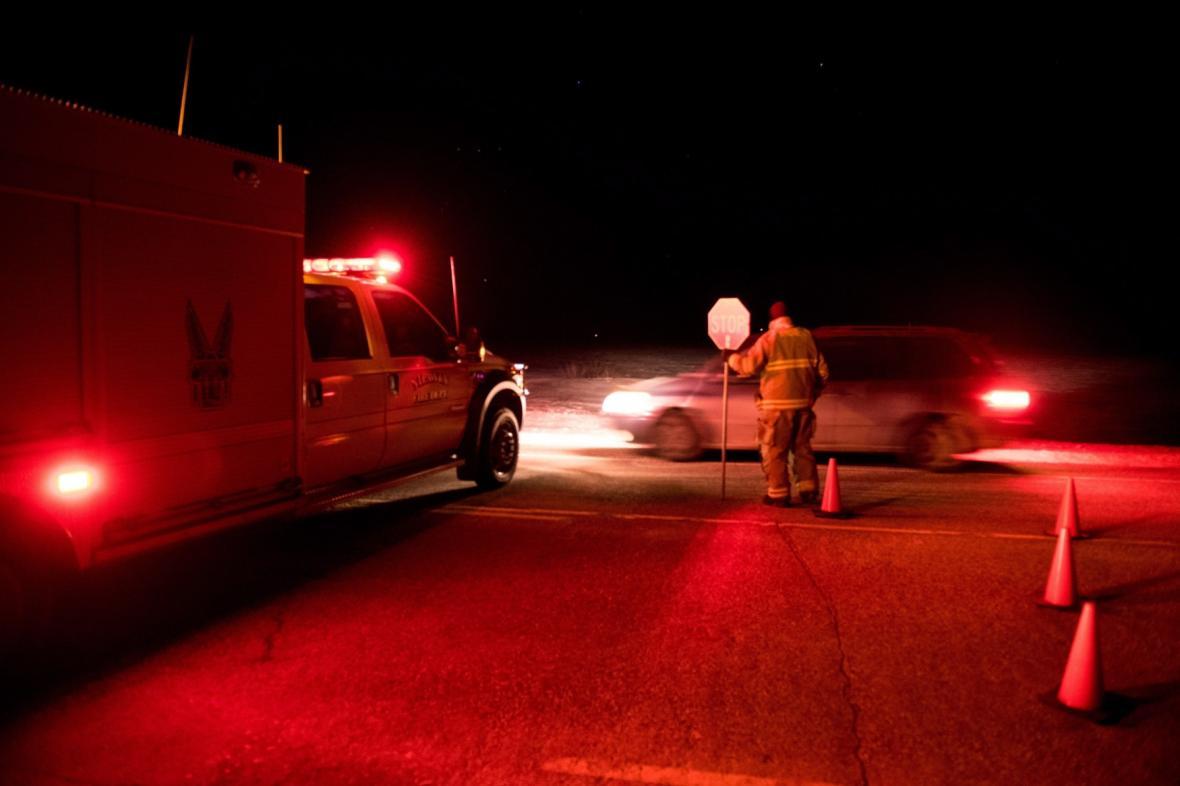 Policie uzavřela dálnici v blízkosti nehody