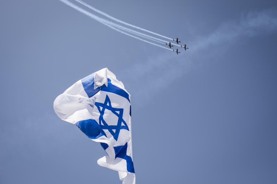 Vojenská přehlídka u příležitosti oslav 70. výročí nezávislosti Izraele