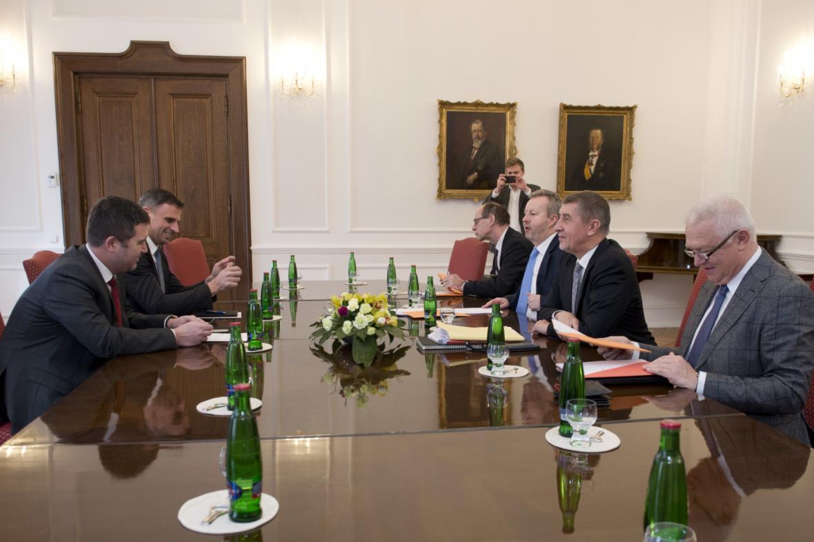 Jednání ČSSD a ANO