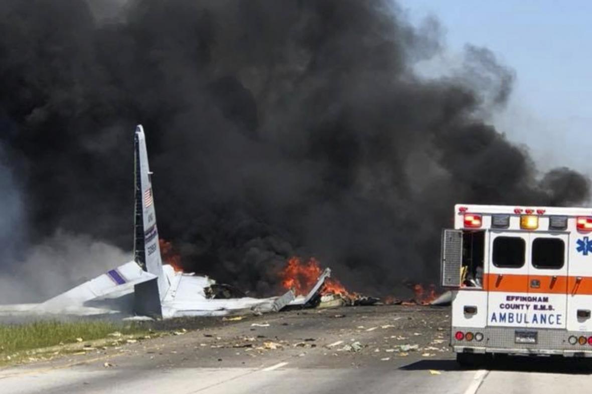Havárie vojenského dopravního letounu C-130