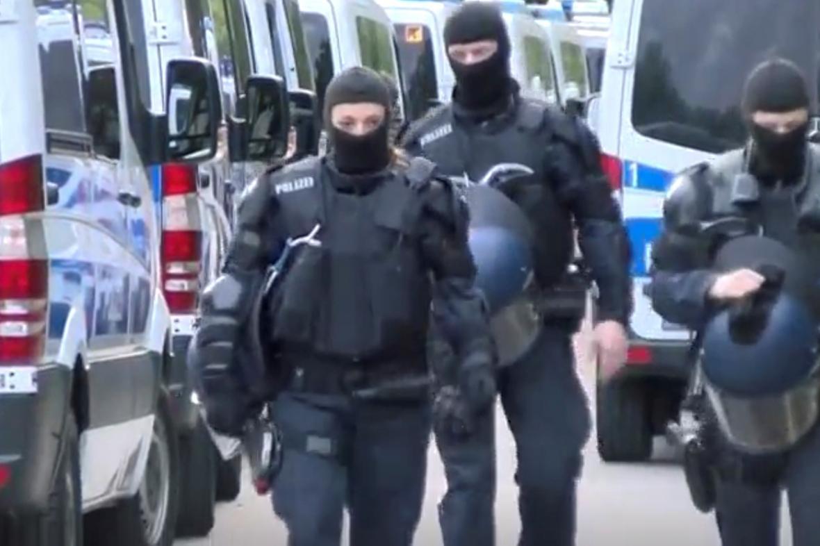 Zátah německé policie v azylovém centru v Ellwangenu