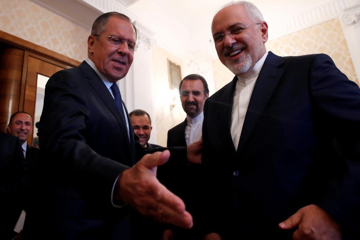 Sergej Lavrov a Mohammad Džavád Zaríf