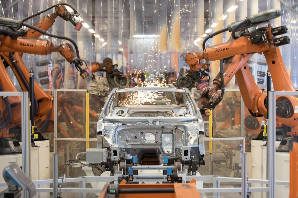 Výrobní hala Volkswagenu v německém Emdenu