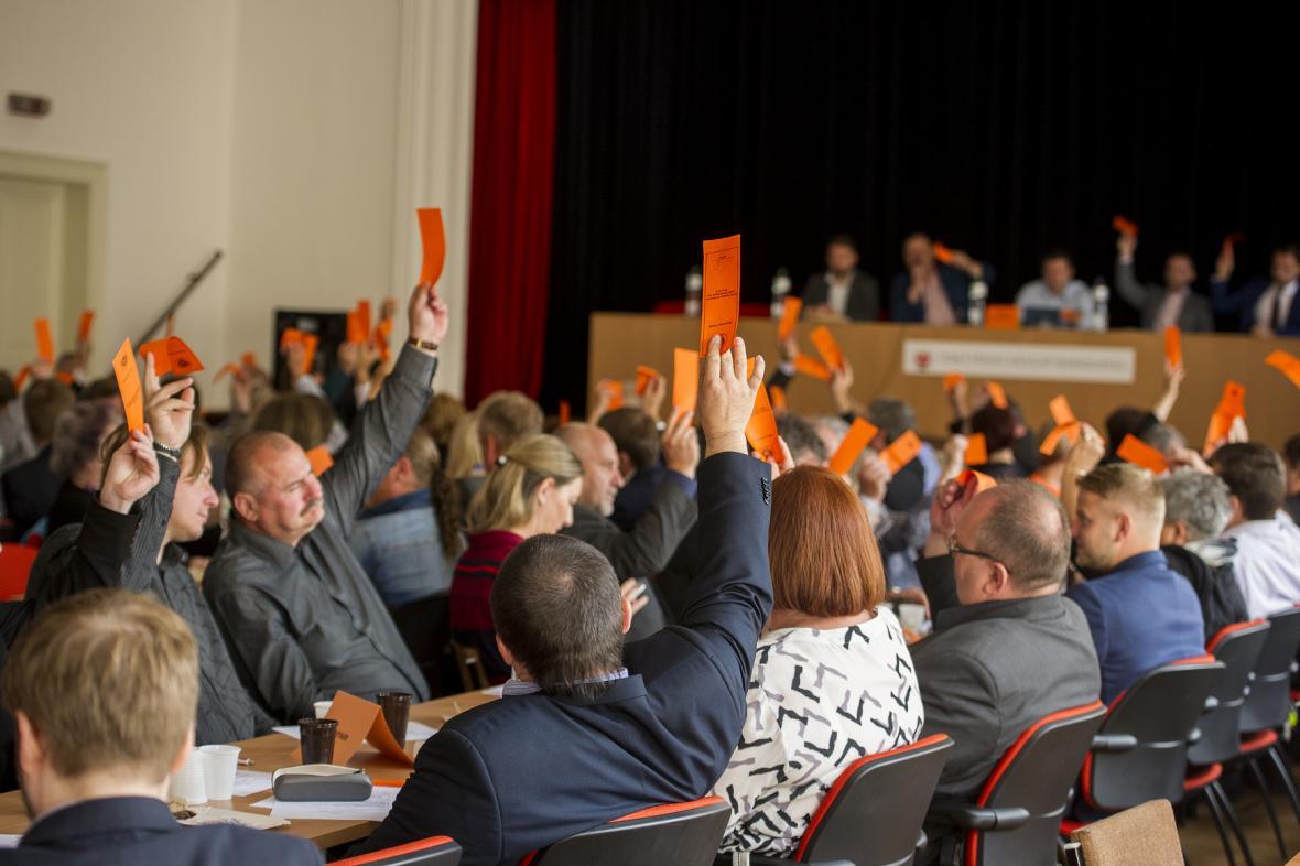 Středočeská ČSSD při hlasování
